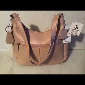Giani Bernini small cream colored leather purse